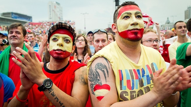 Spain fans (Warsaw fan zone)