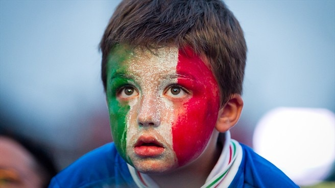 Italy fans (Warsaw fan zone)