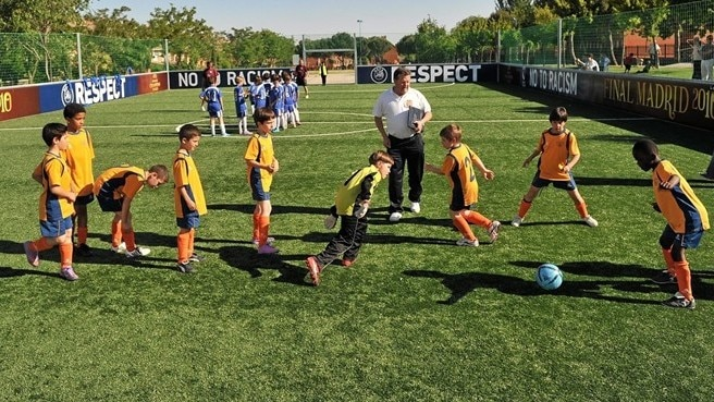 UEFA hands over mini-pitch to Getafe