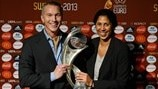 Patrick Andersson & Steffi Jones (UEFA Women's EURO 2013 finals draw)