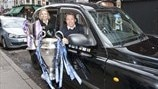 Champions League trophies handed to London