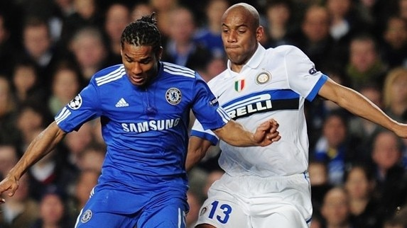 Chelsea - Internazionale reaction (Malouda & Drogba)