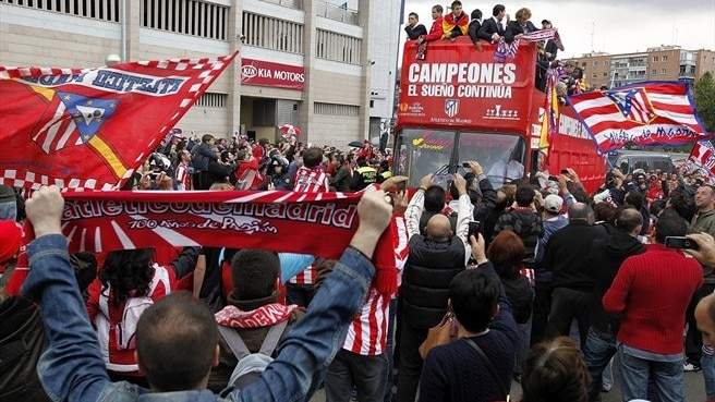 Heroes' welcome for joyous Atlético