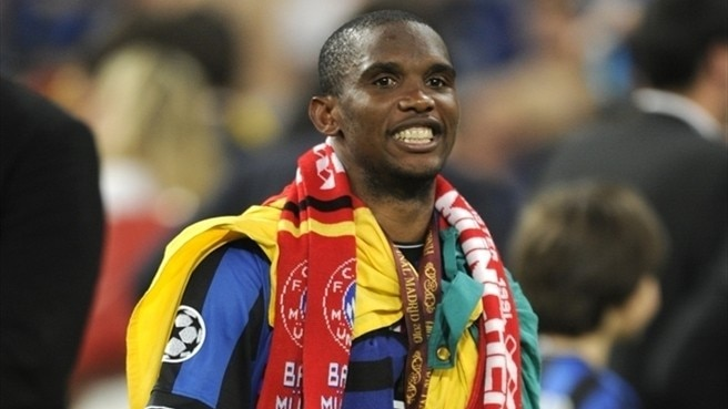 Eto'o in thrall to the power of three