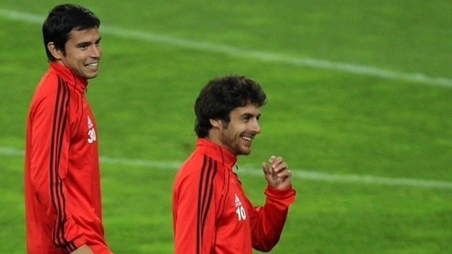Aimar and Saviola of one mind for Benfica