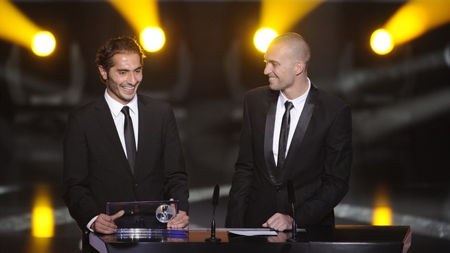 Hamit Altıntop joy at goal of the year award