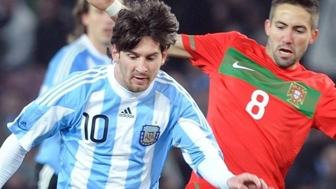 Messi on the spot against Portugal