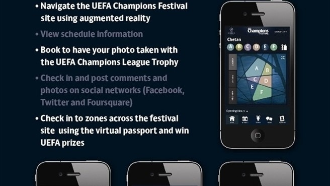 UEFA Champions Festival app available