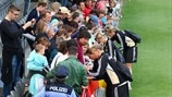 Germany sign autographs