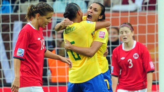 Norway swept aside by brilliant Brazil