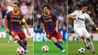 Xavi, Messi and Ronaldo up for Best Player award