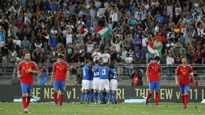 Aquilani earns Italy victory against Spain