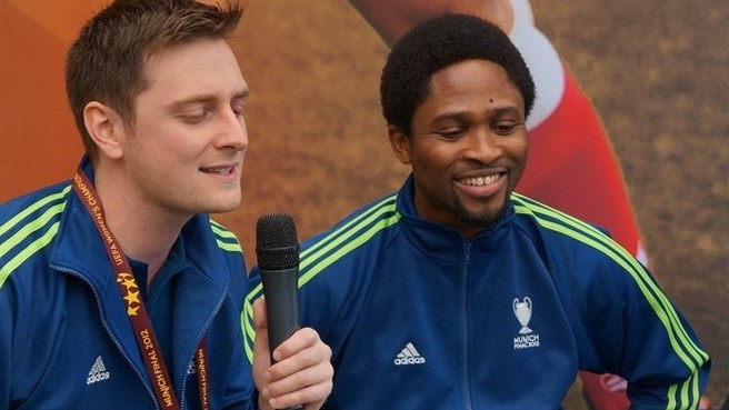 Babayaro hangs out with UEFA.com