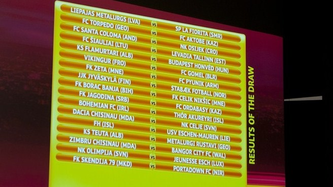 Europa League qualifying draws