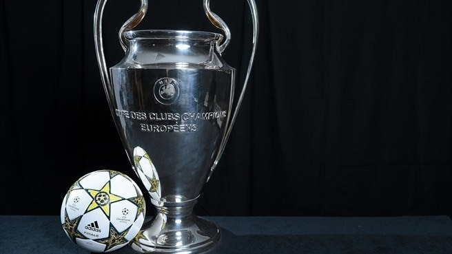UEFA Champions League trophy & match ball