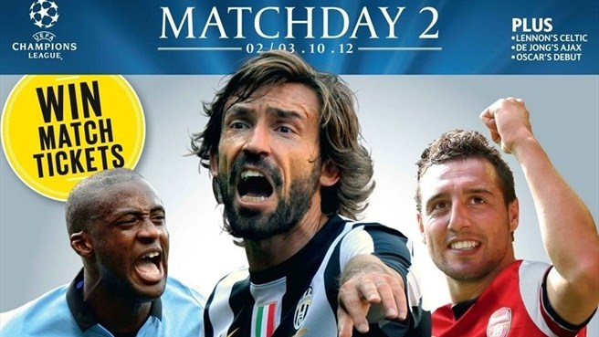 Pirlo leads Champions Matchday line