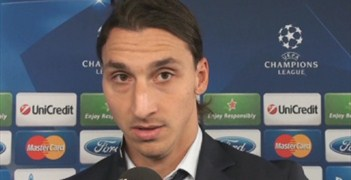 Zlatan Ibrahimović speaks after the 4-0 win