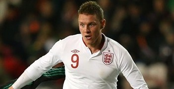 Connor Wickham's opener gave England a half-time lead