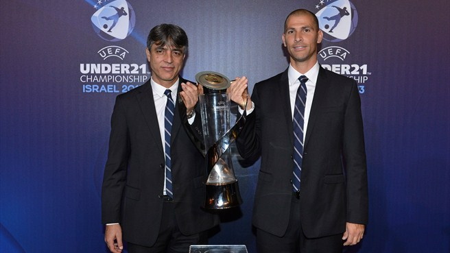 Eli Ohana & Avi Nimni (UEFA European Under-21 Championship finals draw)