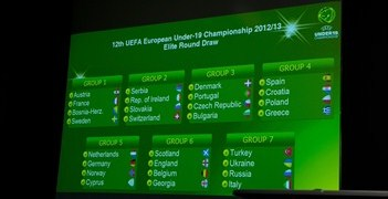 The draw results are displayed in Nyon