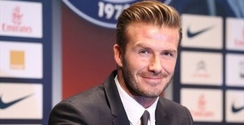 David Beckham speaks to the media about his decision to join PSG