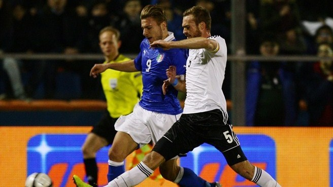 Ciro Immobile (Italy U21) & Jan Kirchhoff (Germany U21)