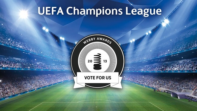 Webby nomination for Champions League site