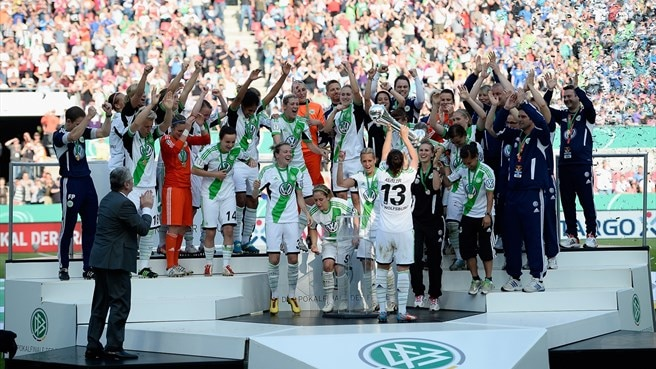 Wolfsburg win maiden German Women's Cup