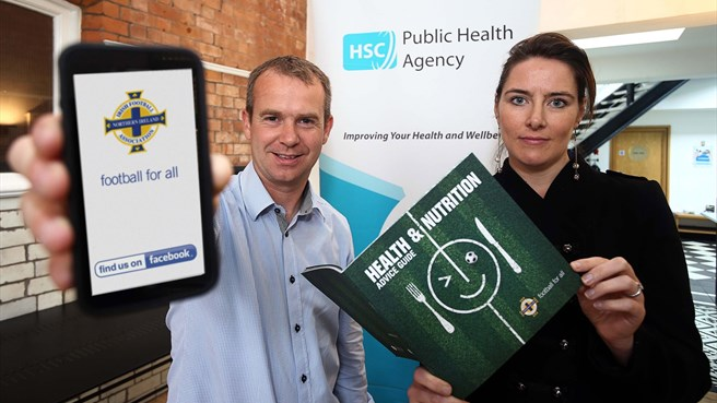 Irish FA launch health booklet, Facebook app