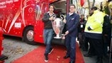 Fabio Capello and Robert Pirès brought the trophy tour to a close
