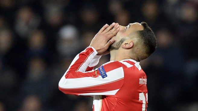 Mitroglou to miss Olympiacos decider
