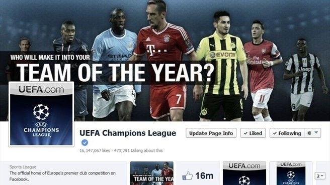UEFA's social media reach continues to grow