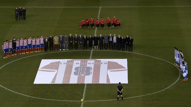 Spanish football family pays respects to Aragonés