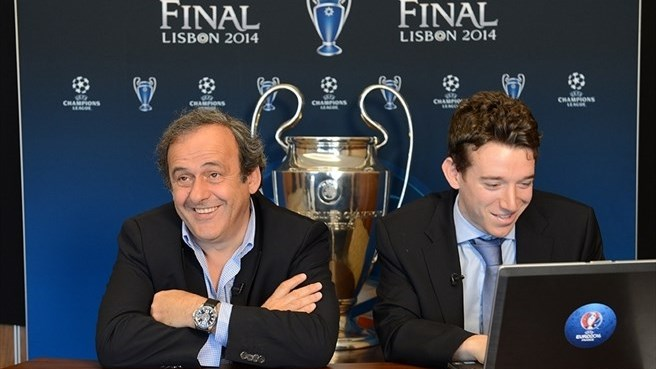 Meeting UEFA President Michel Platini