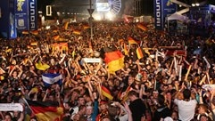 Jubilant German fans celebrate in Berlin