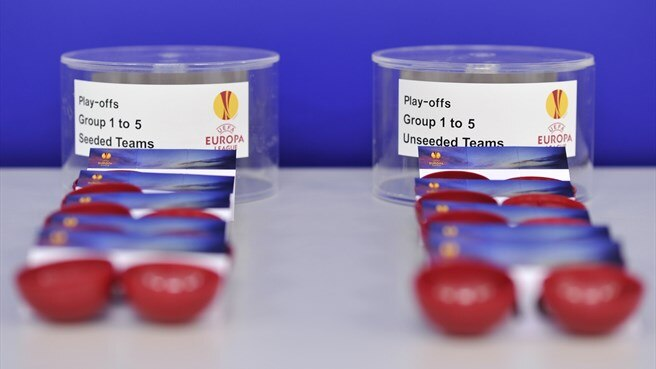 Balls and pots (UEFA Europa League play-off draw)