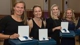 First women receive 100-cap awards