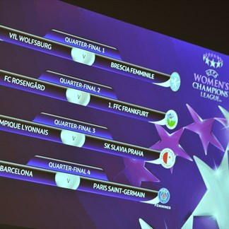 UEFA Women's Chamions League quarter-final draw