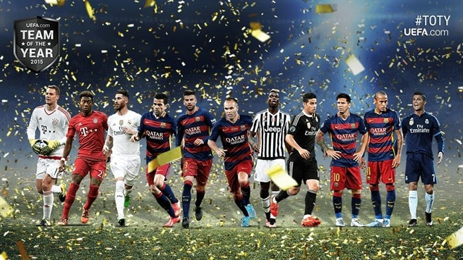 UEFA.com users' Team of the Year 2015