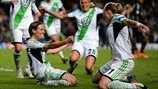 Wolfsburg and Lyon players on 2013 final