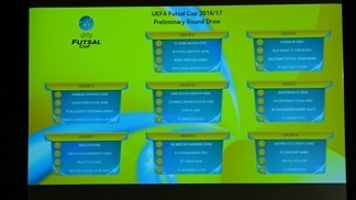 Futsal Cup preliminary and main round draws