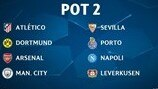 Champions League group stage draw: Pot 2