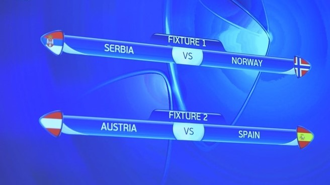 The results of the draw; photo: UEFA