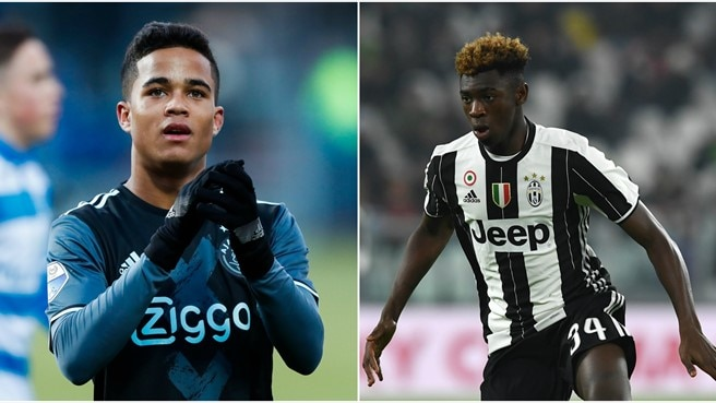 Kluivert to meet Kean as Ajax host Juventus