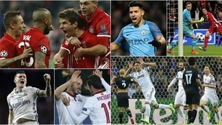 Every round of 16 first-leg goal in photos