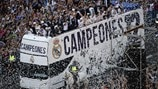 Real Madrid's homecoming in photos