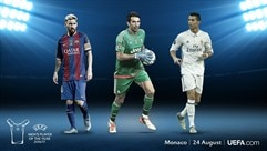 Buffon, Messi and Ronaldo on Player of the Year shortlist