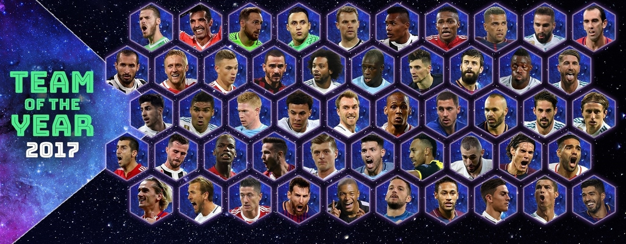 Pick your UEFA.com Team of the Year now!