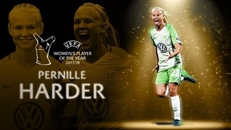 Pernille Harder wins UEFA Women's Player of the Year award