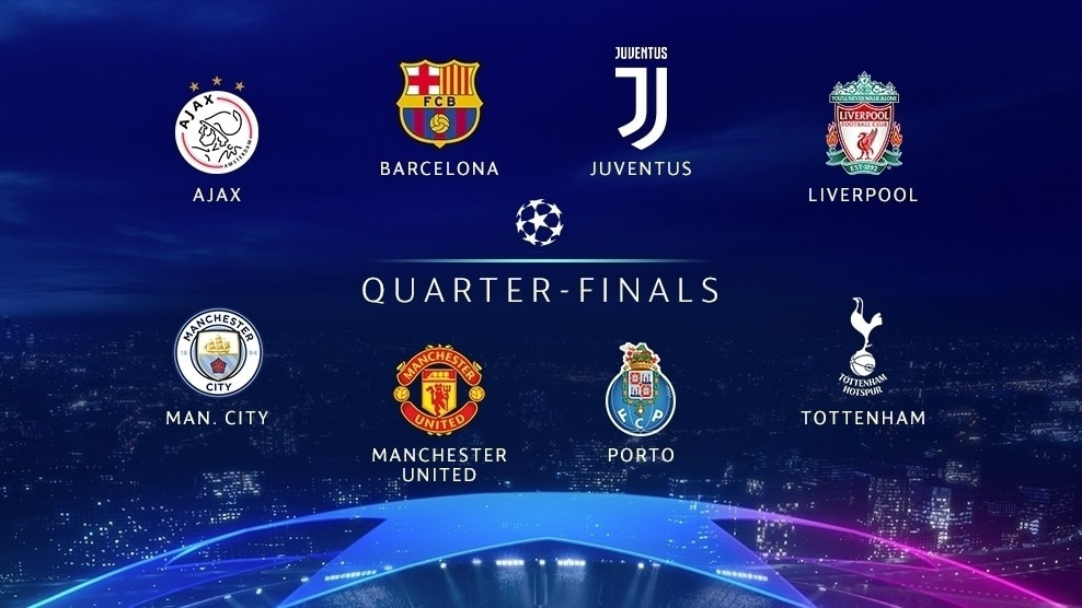 UEFA News: Meet The UEFA Champions League Quarter-finalists
